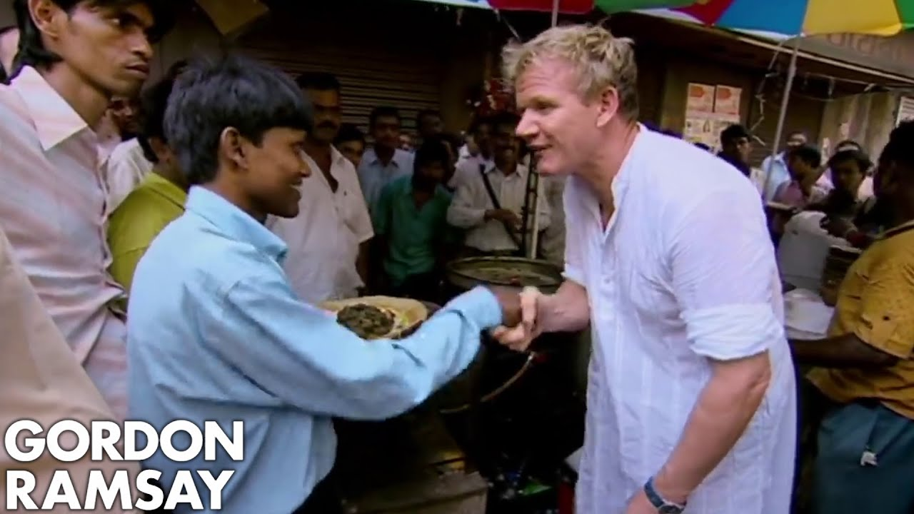 Gordon Ramsay Cooks Indian Street Food For Locals | Gordon's Great Escape