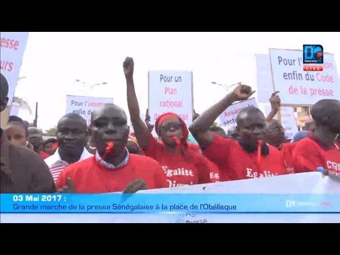 Revivez sur Dakaractu la grande marche de la presse Sénégalaise à la place de l'Obélisque