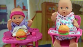 Barbie Baby Doll Potty Training Part 2 - Baby doll Eat and poop Fun Video My Disney toys