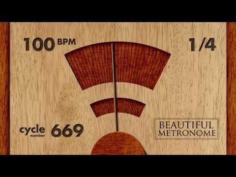 100 BPM 1/4 Wood Metronome HD
