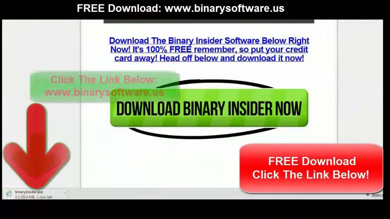 Binary trade signals live