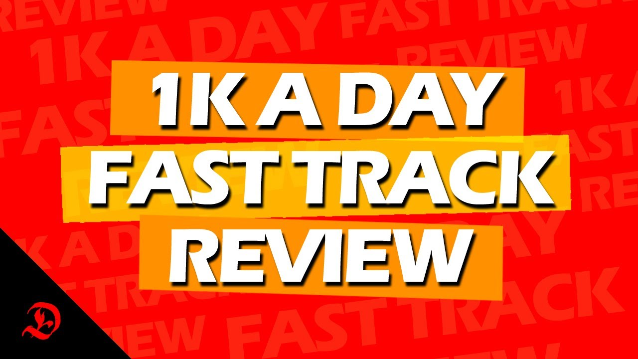 1k A Day Fast Track Training Program  Coupon Code Free 2-Day Shipping March
