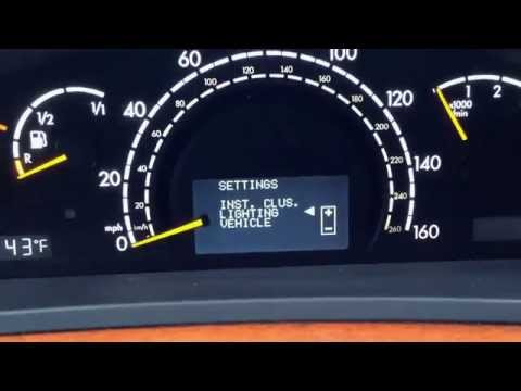 HOW TO USE: Instrument Cluster functions for Mercedes Benz MPG, lights, navi S E C A class BRC