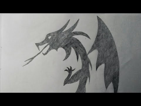 How To Draw A Dragon || Simple Dragon Drawing