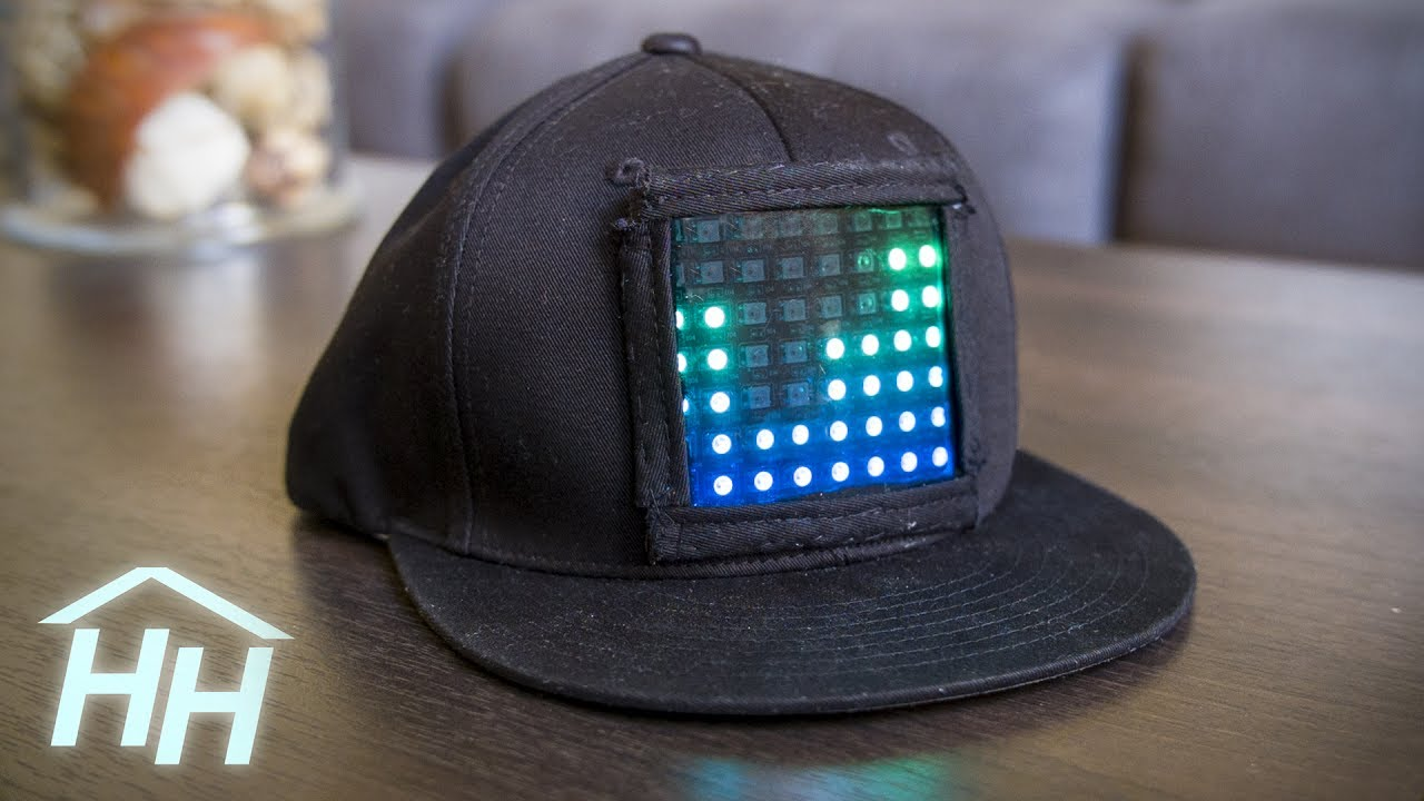 How to Make a Customizable LED Display Hat - YouTube 80f547c24d0