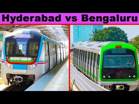 Hyderabad Metro vs Bengaluru Metro Comparison (2018)