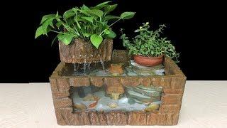 DIY AQUARIUM FISH GUPPY OF FOAM BOX (Model Aquaponics, Aquascape) - Fish Tank - Home Decor