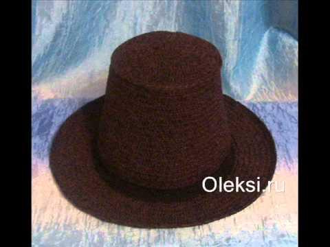 Вязаная мужская шляпа - YouTube