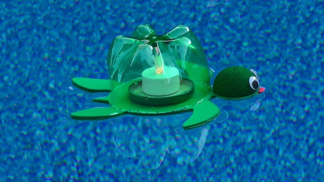 Lanterne flottante en forme de tortue - YouTube