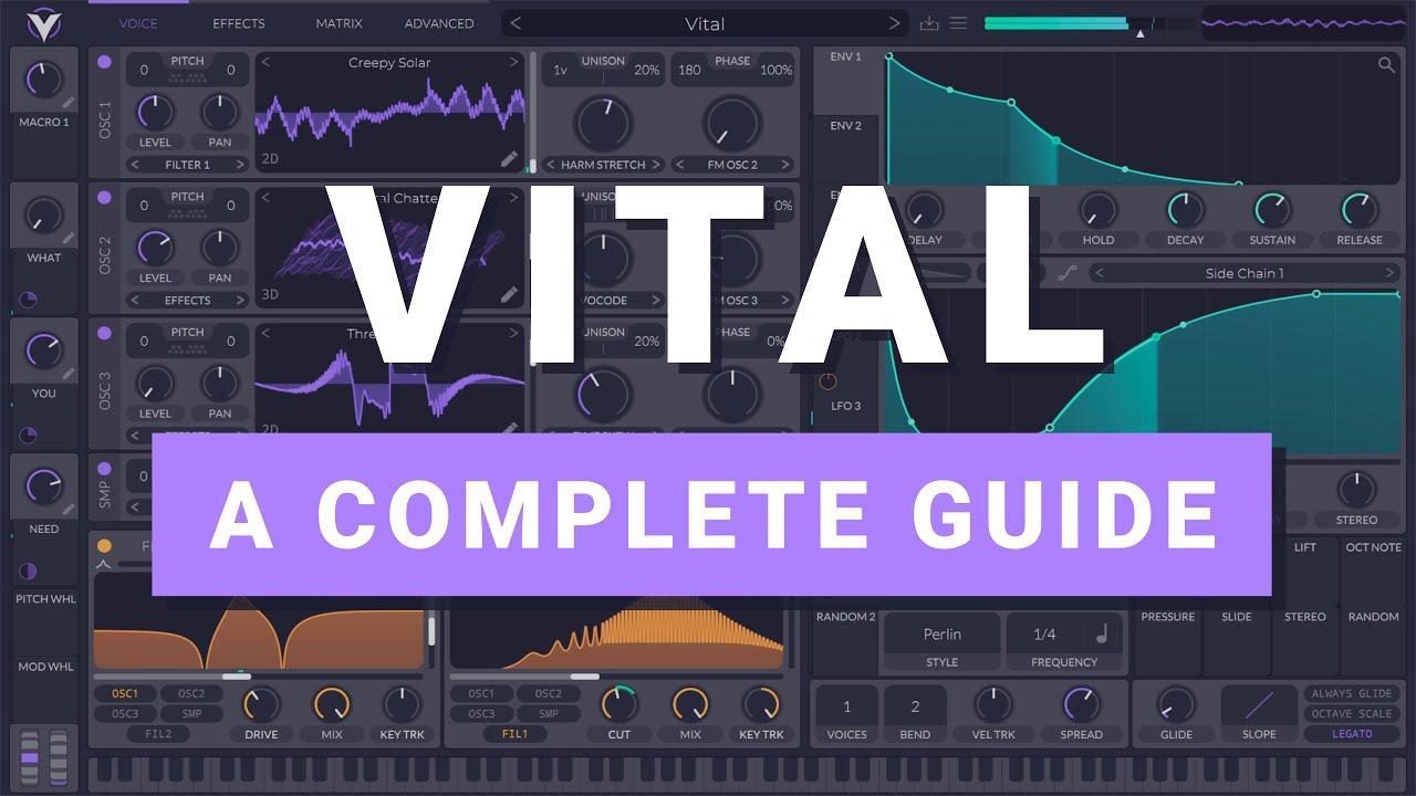 Free Vital Synth - Full Tutorial