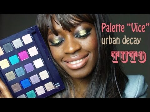 Tuto maquillage de soiree ombre or et noire vice palette - Meilleure palette maquillage ...