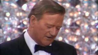 "John Wayne winning Best Actor for ""True Grit"""