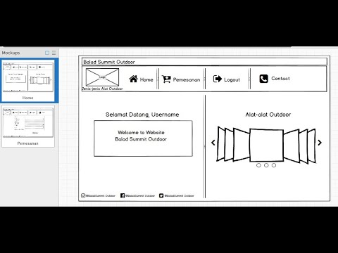 Membuat design website sederhana menggunakan software Balsamiq Mockups version: 3.5.17 (Crack)
