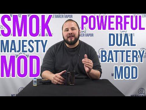 SMOK Majesty Resin Dual Battery Box Mod ~ Vape Review   Product Spotlight