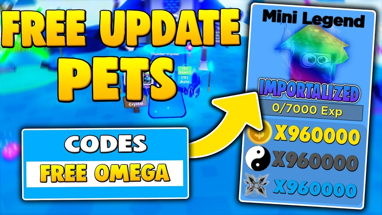 New Insane Free Update Pet Codes In Ninja Legends Roblox