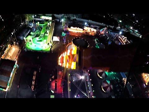 เครื่องเล่น G-FORCE กลางคืน - สวนสนุก Global Carnival 2016