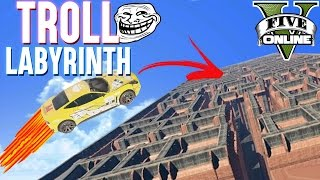 TROLL LABYRINTH PARKOUR (+DOWNLOAD) | GTA 5 - CUSTOM MAP RENNEN