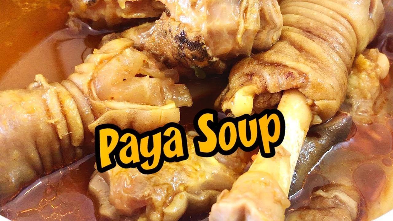 How to make goat leg soup | How to make paya soup recipe video | Aattu kaal soup | 0065