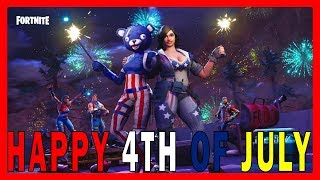 "HAPPY 4TH OF JULY! - NEW ""FIREWORKS TEAM LEADER"" SKINS in FORTNITE // PLAYGROUND LTM"