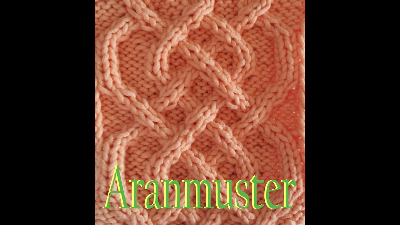 Zopfmuster Stricken Aranmuster Saxon Braid - YouTube