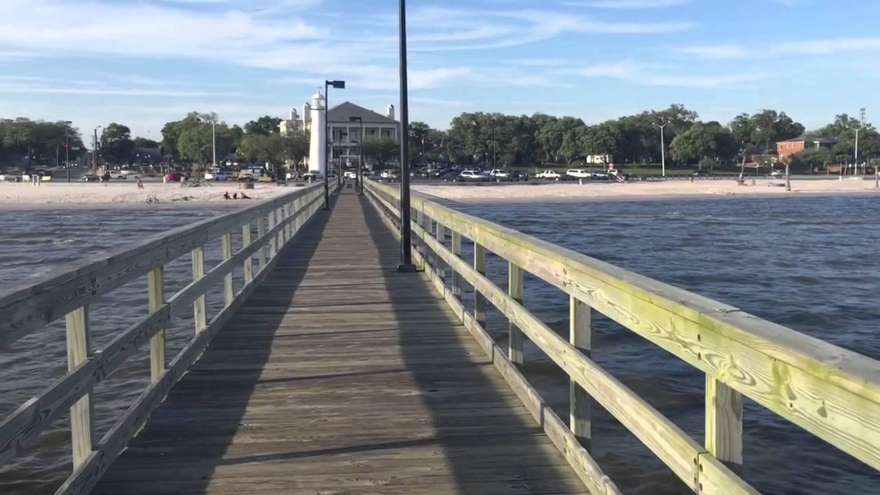 Lighthouse pier biloxi beach mississippi youtube for Fishing in biloxi ms
