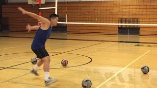 improve spiking timing part 12   how to spike a volleyball tutorial