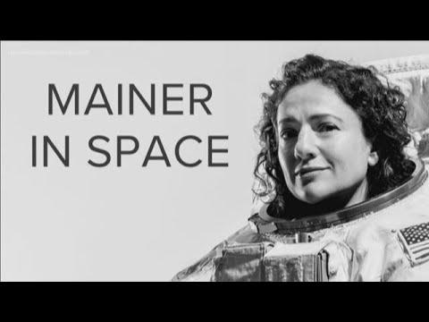 Astronaut Jessica Meir talks to Caribou High School