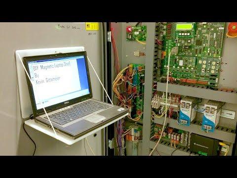 DIY Portable Magnetic Laptop Work Station for Elevator Industry
