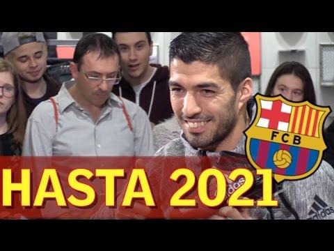 Luis Suárez renueva con el Barcelona hasta 2021