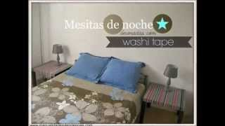 Washi Tape: Personaliza Tus Mesitas De Noche / Personalized Night Tables