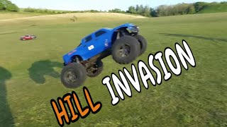 bashing the hills with the Traxxax Xmaxx and UDR
