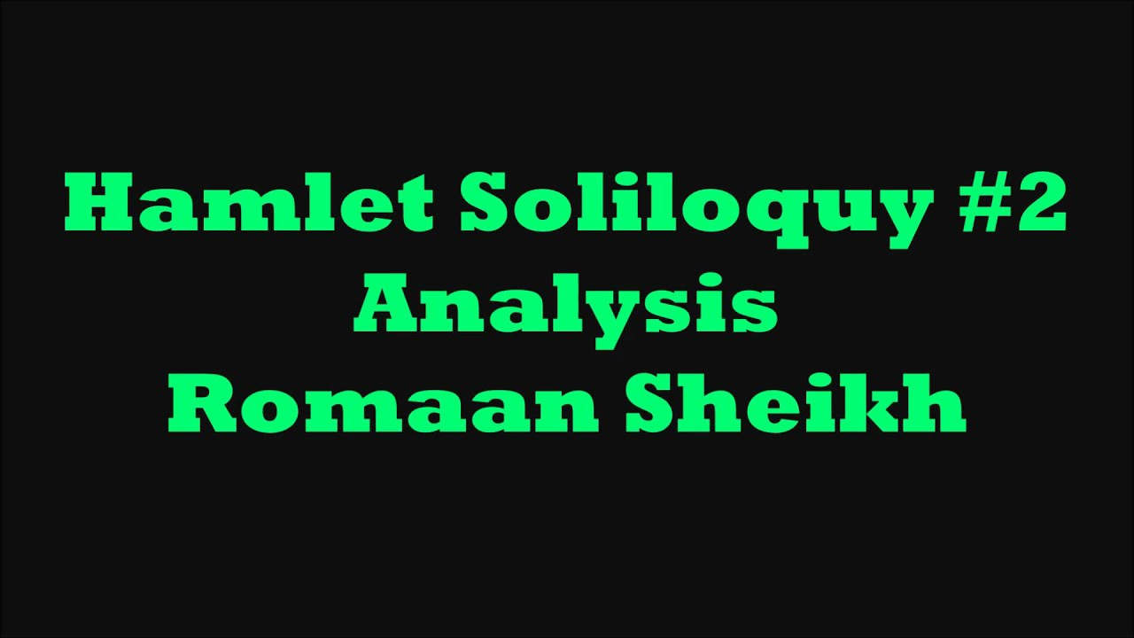 hamlet seven soliloquies Today, let's talk about (or rap about) hamlet's 7 soliloquies my idea for this project stemmed from hamilton and lin-manuel miranda's #yayhamletcredit where credit is due.