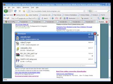 Free Youtube downloader 2010(HD support)