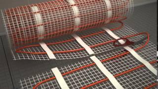 Установка и монтаж тёплых электрических полов, видео урок укладки(, 2015-02-21T17:00:49.000Z)