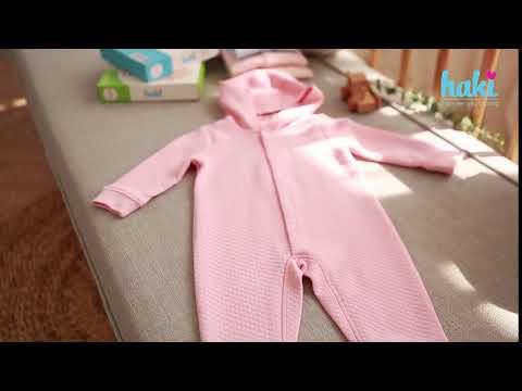 Bộ body cho bé chần bông cài giữa Haki (Newborn - 12m) BB015