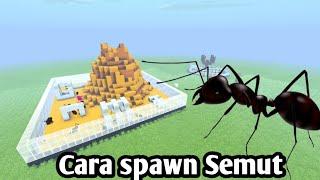 Cara spawn Ants di mcpe