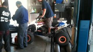 LTR450 Dyno run with data logging using a wideband aem and a Fimak and a iphone
