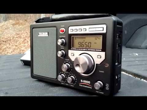Tecsun S-8800 tuned to Radio Guinea