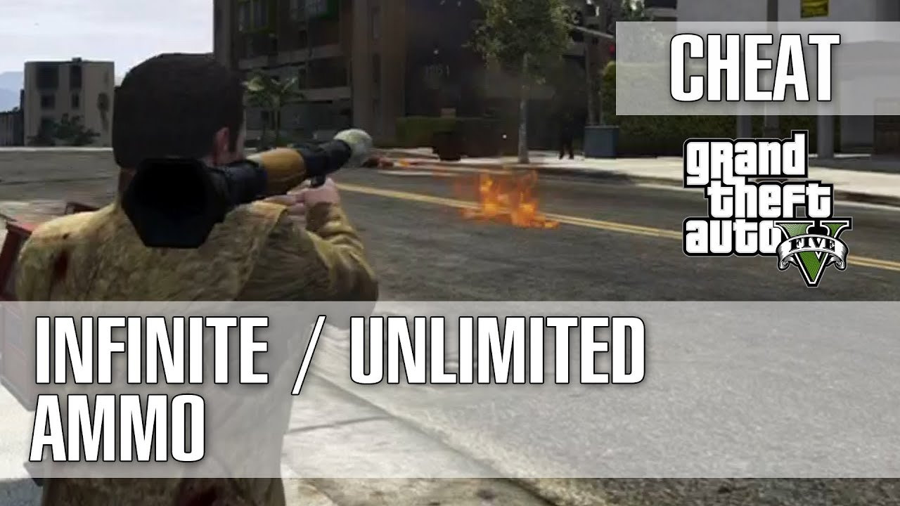 Grand theft auto 5 gta 5 infinite unlimited ammo cheat rpg
