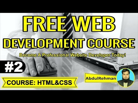 HTML and CSS Tutorial in Urdu/Hindi Part 2 by Abdul Rehman thumbnail