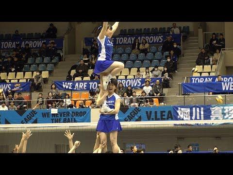 TORAY Arrows チアリーダー @2018-19 V.LEAGUE 滋賀大会  [4k]