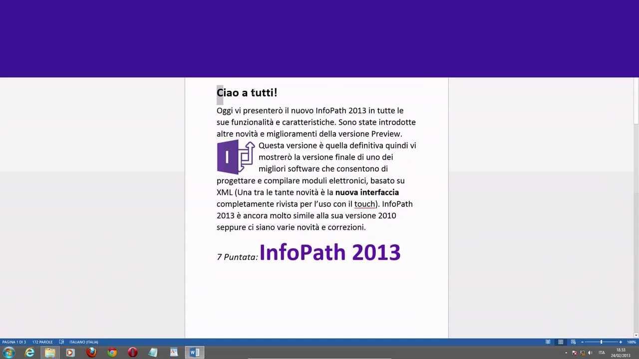 Office INFOPATH 2013
