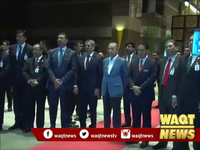 PM Dr. Mahathir Mohamad bidding farewell to PM Imran Khan after official visit to Malaysia