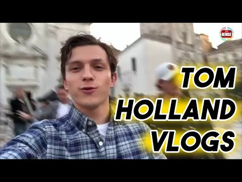 TOM HOLLAND VLOGS ON SET OF SPIDER-MAN: FAR FROM HOME  Funny Moments Instagram Snapchat