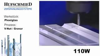 Mecanizado de plástico Plexiglas metacrilato con fresa 110W
