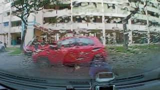 Attention to Singapore Traffic Police:17 June 2016 Staged accident at Toh Guan road