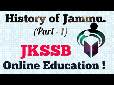 History of Jammu, Part-1| History of J&K| JKSSB ( Teacher & Non-Teaching)Online  Exams Preparation.