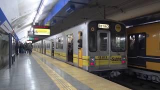 Buenos Aires地下鉄C線 名古屋市交通局5000形・250形 Diagonal Norte駅発着