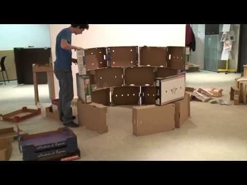 la maison en carton installation 2008 youtube. Black Bedroom Furniture Sets. Home Design Ideas