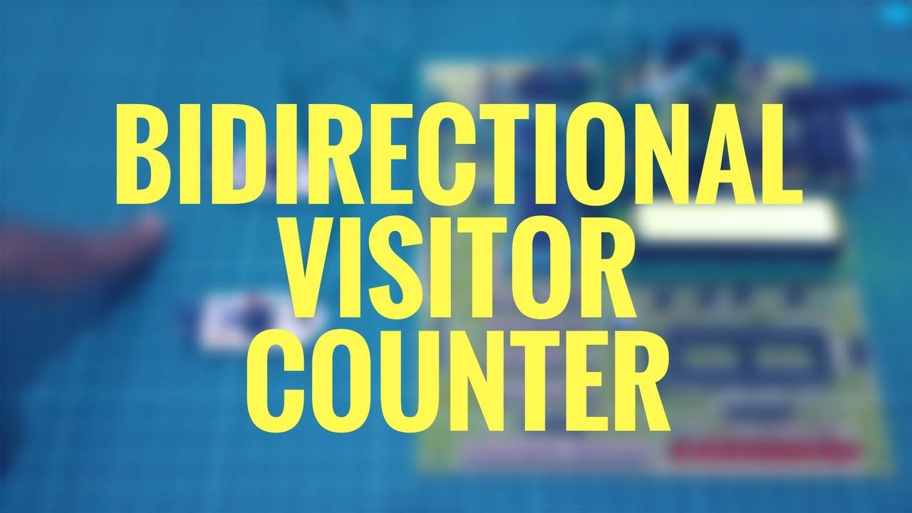 bidirectional visitor counter c code